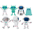 set of space character vector image vector image