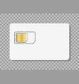 sim card icon simcard for mobile phone nano vector image vector image