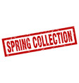 square grunge red spring collection stamp vector image vector image