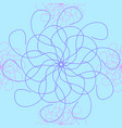 the seamless interweaving of lines vector image vector image