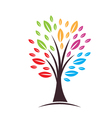Tree with color leaves vector image vector image