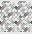 trendy mosaic seamless background with silver vector image vector image