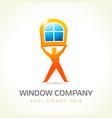 window company logo vector image