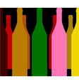 wine bottles color vector image vector image