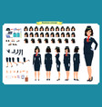 woman character creation set stewardess vector image vector image