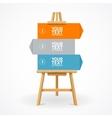 Wooden easel option banner vector image vector image