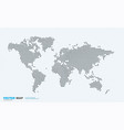 world map with rounds spots dots for vector image vector image