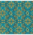 Turquoise Arabic pattern vector image