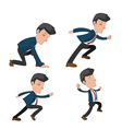 Business Man Cartoon Action Run vector image