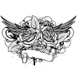 roses wings vector image