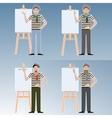 Set of Artists vector image