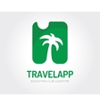 Abstract travel palm logo template for vector image vector image