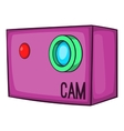 Action video digital camera icon cartoon style vector image