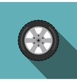 Automobile flat wheel icon vector image