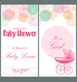 baby shower invitation card template vector image vector image