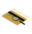 back side credit card with cvv security vector image vector image