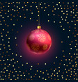 beautiful hanging christmas 3d ball with golden vector image vector image
