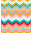 Beige pink red and turquoise chevron seamless vector image