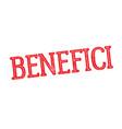 benefits stamp in italian vector image vector image