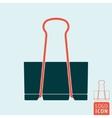 Binder clip icon vector image