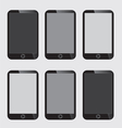 Blank Screen Smart Phone vector image vector image