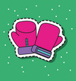 boxing gloves sport patch sticker vector image vector image