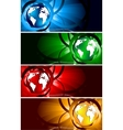 bright banners with globe vector image vector image