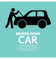 Broken Down Car vector image vector image
