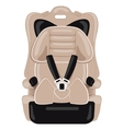 brown child car seat vector image vector image