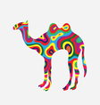 Camel colorfully vector image vector image