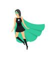 cartoon female superhero character vector image