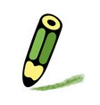 cartoon of green pencil art vector image