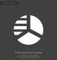 Circle diagram premium icon white on dark backgrou