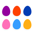 Colorful easter eggs collection isolated on white vector image vector image