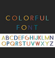 colorful funny font english alphabet vector image vector image