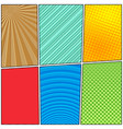 comic colorful bright composition vector image vector image