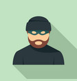 criminal man icon flat style vector image