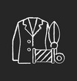 custom suits and shirts chalk white icon on black vector image vector image