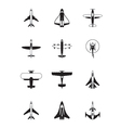 Different aircrafts vector image vector image