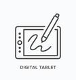 digital tablet flat line icon outline vector image vector image