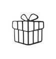doodle present box vector image vector image
