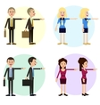Funny business characters of men and women vector image