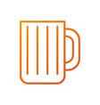 glass mug for drink bar restaurant object vector image
