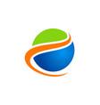 globe round earth ecology logo vector image vector image