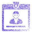 Guy access card icon grunge watermark vector image