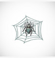 hand drawn colorful halloween scary spider vector image