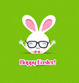 happy easter bunny greeting card vector image vector image