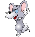 Happy Mouse Albert vector image vector image