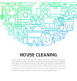house cleaning line concept vector image vector image