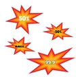 Icons explosion vector image
